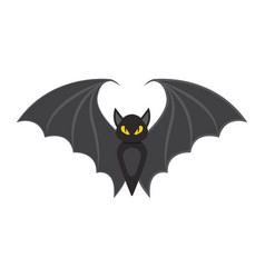 bat flat icon halloween and scary animal sign vector image