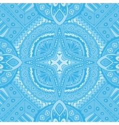 Blue seamless geometric doodle tiles vector