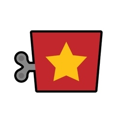 Box with star icon toy design graphic vector