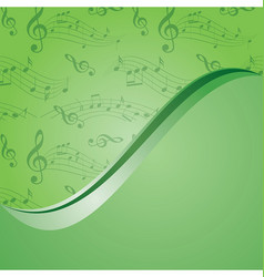 Bright green music background - with gradient vector