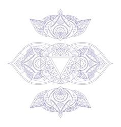 Chakra Ajna vector image