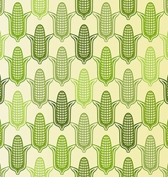 corn seamless pattern vector image vector image