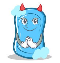 Devil blue soap character cartoon vector