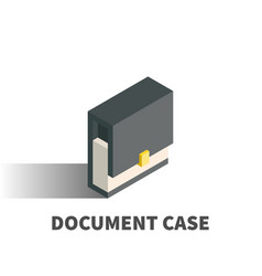 document case icon symbol vector image