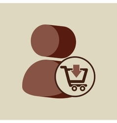 E-commerce store digital character icon vector