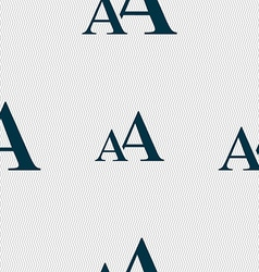 Enlarge font aa icon sign seamless abstract vector
