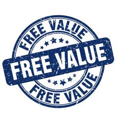 Free value blue grunge stamp vector