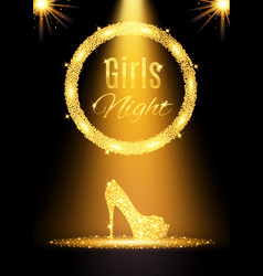 Gold girls night out party poster vector