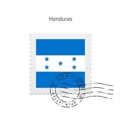 Honduras flag postage stamp vector