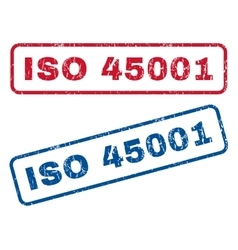 Iso 45001 rubber stamps vector