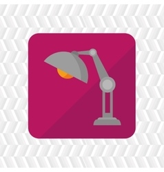 lamp icon design vector image vector image