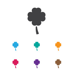 Of game symbol on clover icon vector