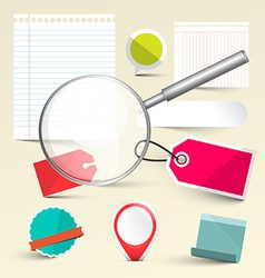 Paper Empty Labels - Tags and Paper Sheets with vector image vector image