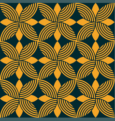 Seamless floral ornamental emblem pattern vector