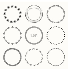Set of hand drawn vintage retro hipster pattern vector image vector image
