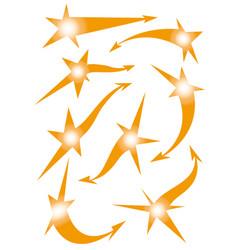 Set of star arrow stickers vector