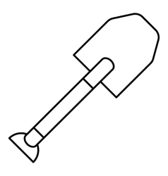 Spade icon outline style vector
