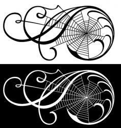 Spider web scroll vector