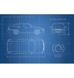 The design of the car drawing vector image vector image