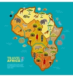 Travel africa poster vector