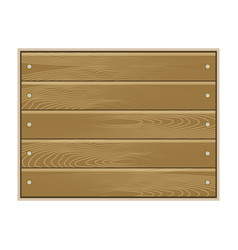 wood board isolated on white background vector image vector image