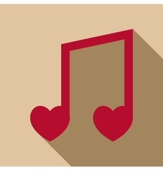 Love song icon flat style vector