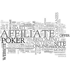 Become a poker affiliate generate income from vector