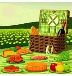 picnic vector image