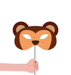 Monkey mask vector