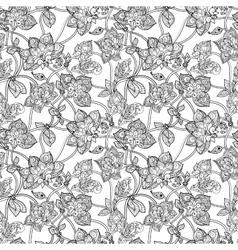 Intricate seamless pattern with decorative vector