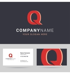 Logotype logo template and business card template vector