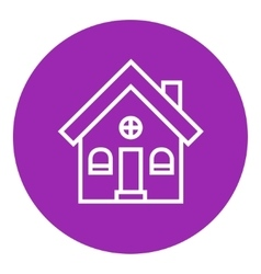 Detached house line icon vector