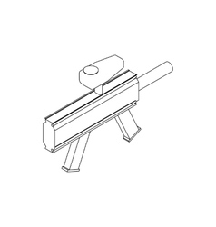 Paintball marker icon isometric 3d style vector