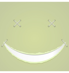 a smile on paper vector image