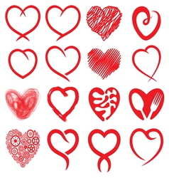 Big heart collection1 vector image vector image