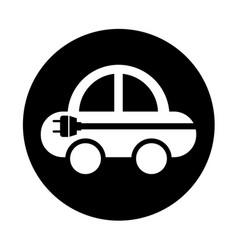 car with energy plug vector image