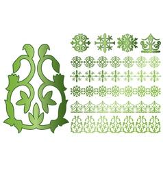 caucasus ornaments vector image vector image