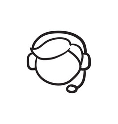 Customer service sketch icon vector