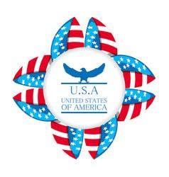 cute eagle with american symbol emblem vector image
