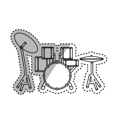 Drummer music instrument vector image vector image