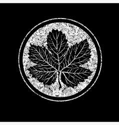Floral logo 11 grunge vector