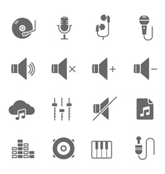Icon set - audio vector image vector image