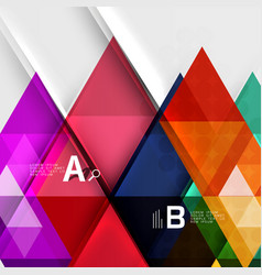 infographic template - triangle tiles background vector image vector image