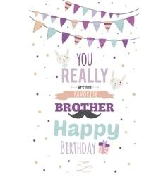 Inspirational invitation birthday card vector
