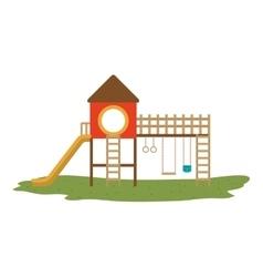 Kids playground design vector