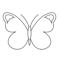 Nice butterfly icon outline style vector