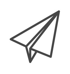 paper airplane thin line icon vector image vector image