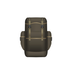 realistic khaki backpack vector image vector image