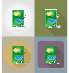 sport flat icons 65 vector image vector image