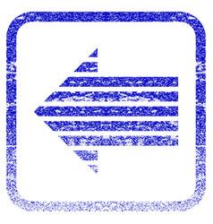 Stripe arrow left framed textured icon vector